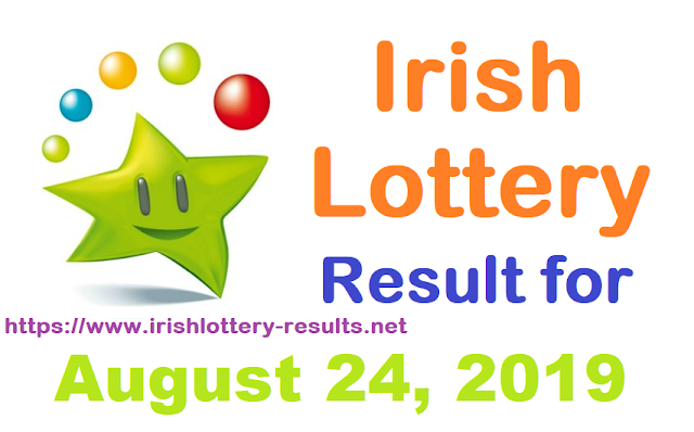 Irish Lottery Results for Saturday, August 24, 2019