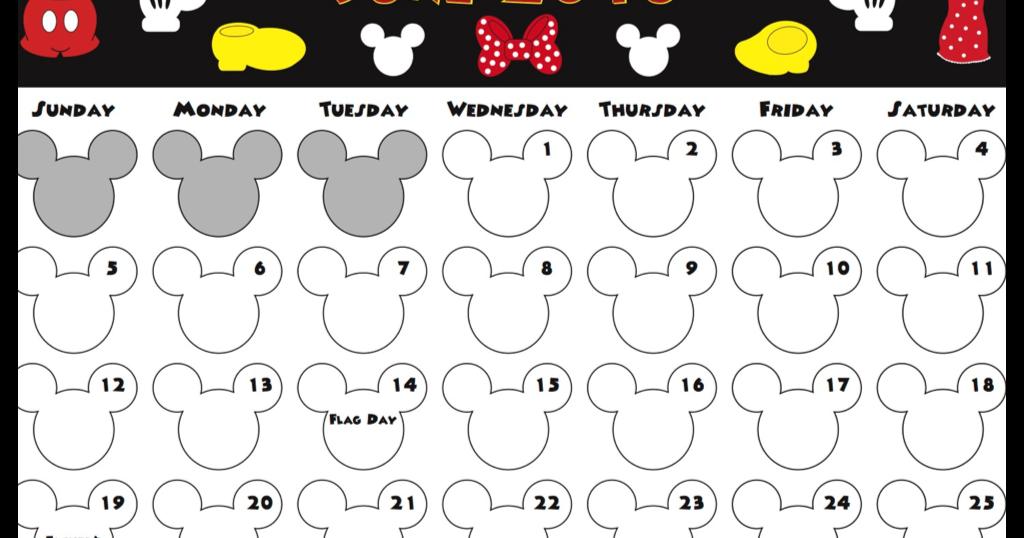 Free Printable Disney Calendars 2014