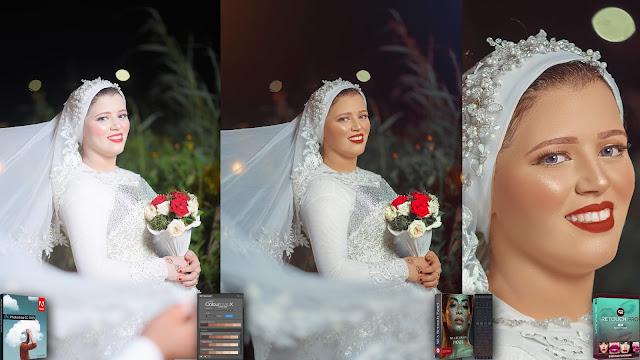 التعديل علي صور الزفاف  Wedding Retouch + Skin Tone + Smoothing