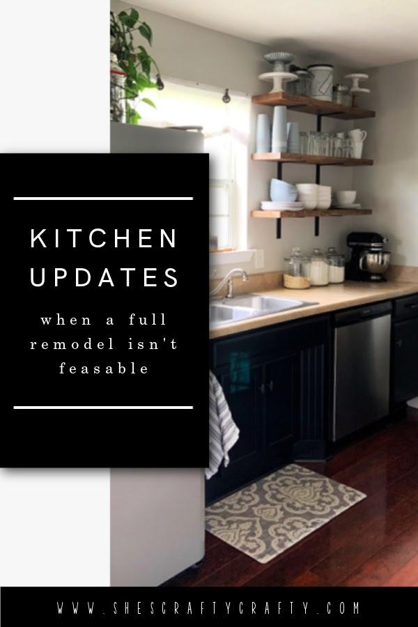 Kitchen Remodel when a full remodel isn't feasible - Pinterest Pin