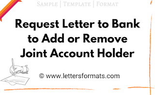 how to remove name from bank joint account