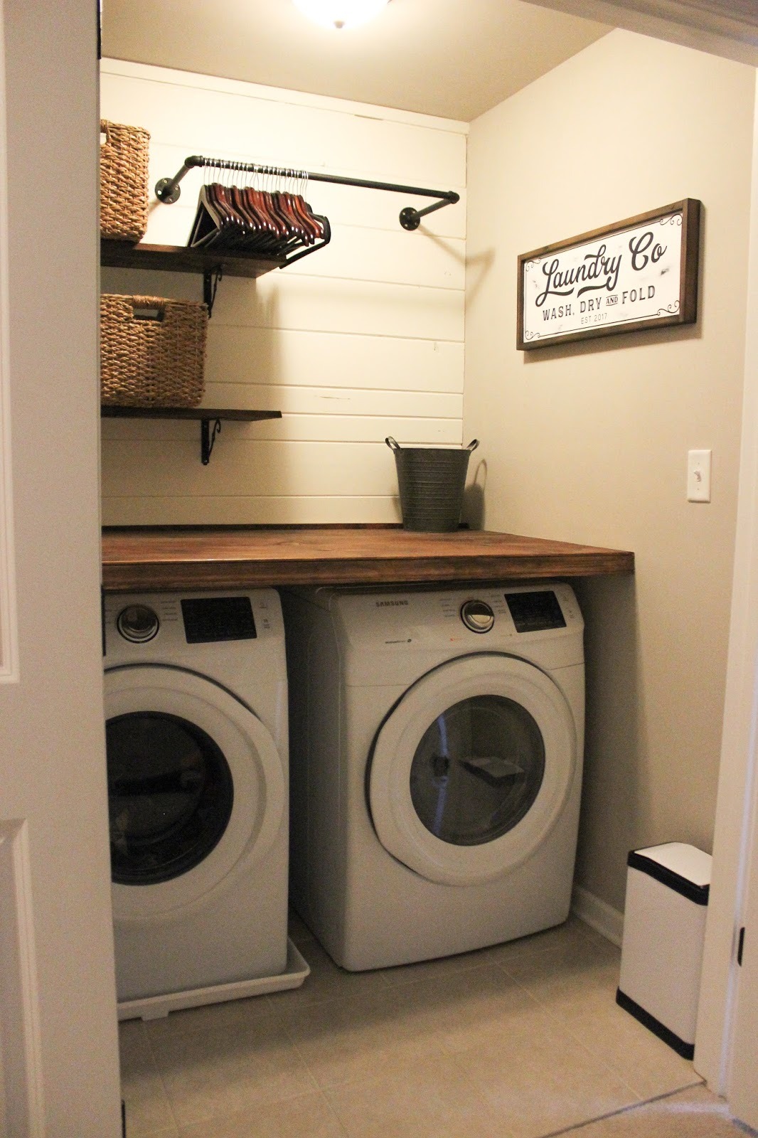 Of Course I Thank Joanna Gaines For Making Shiplap Famous Like Most People Am So Obsessed Wasnt Sure How It Would Turn Out The Laundry Room Was