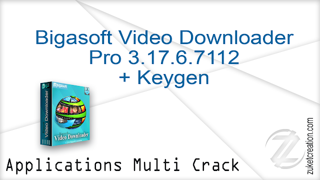 Bigasoft Video Downloader Pro 3.17.6.7112 + Keygen     |  33 MB