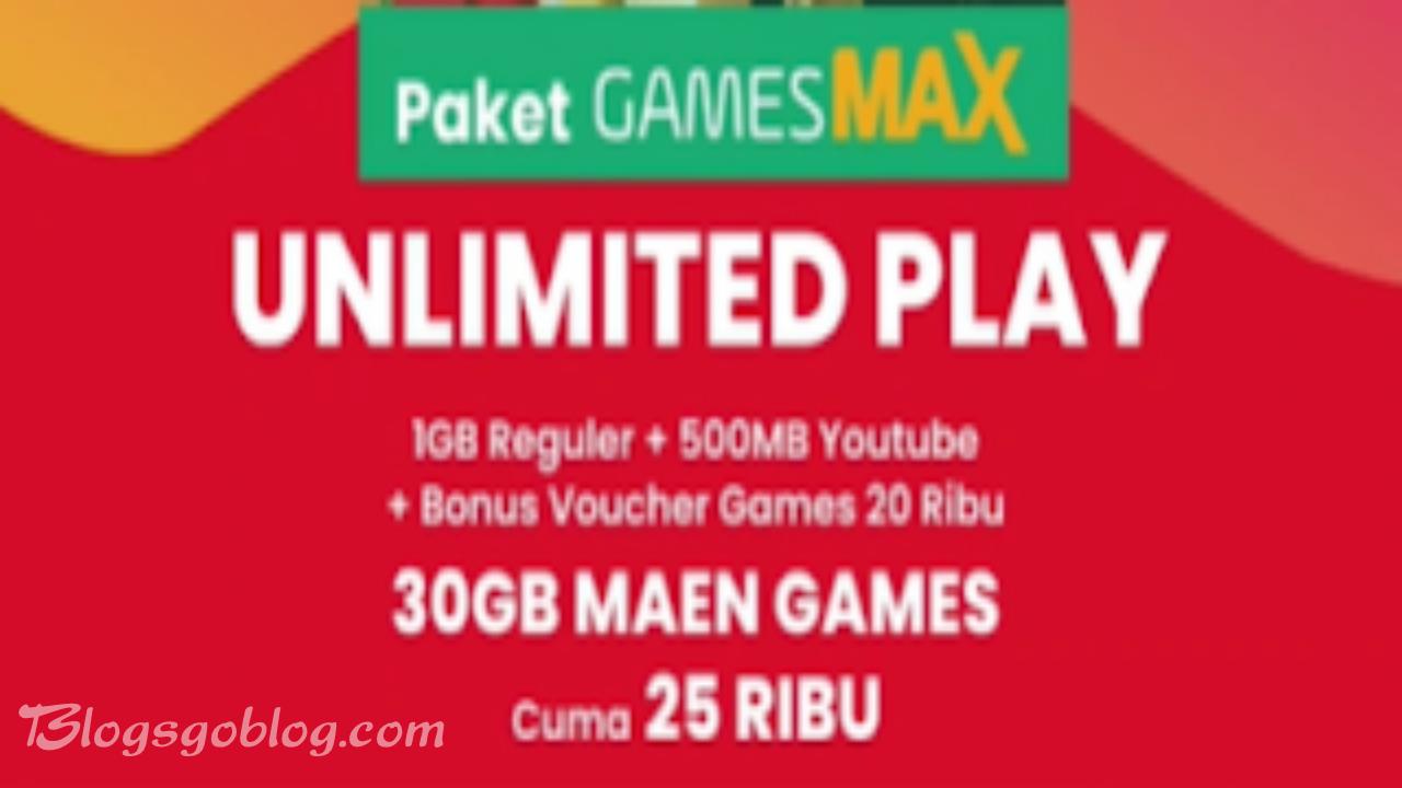 Membeli Paket GamesMAX Unlimited Play 30GB Di Mytelkomsel Terbaru