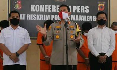 Polisi tangkap Delapan pelaku ilega logging di gunung Cidora