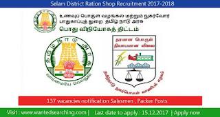 Selam District Ration Shop Recruitment 2017-2018