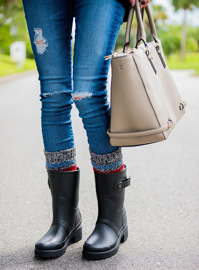 Hunter Rain Boots Striped Boot Socks Alyson Haley