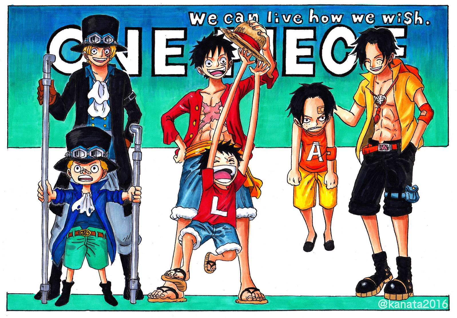 Sabo Luffy Ace Generation One Piece Wallpaper