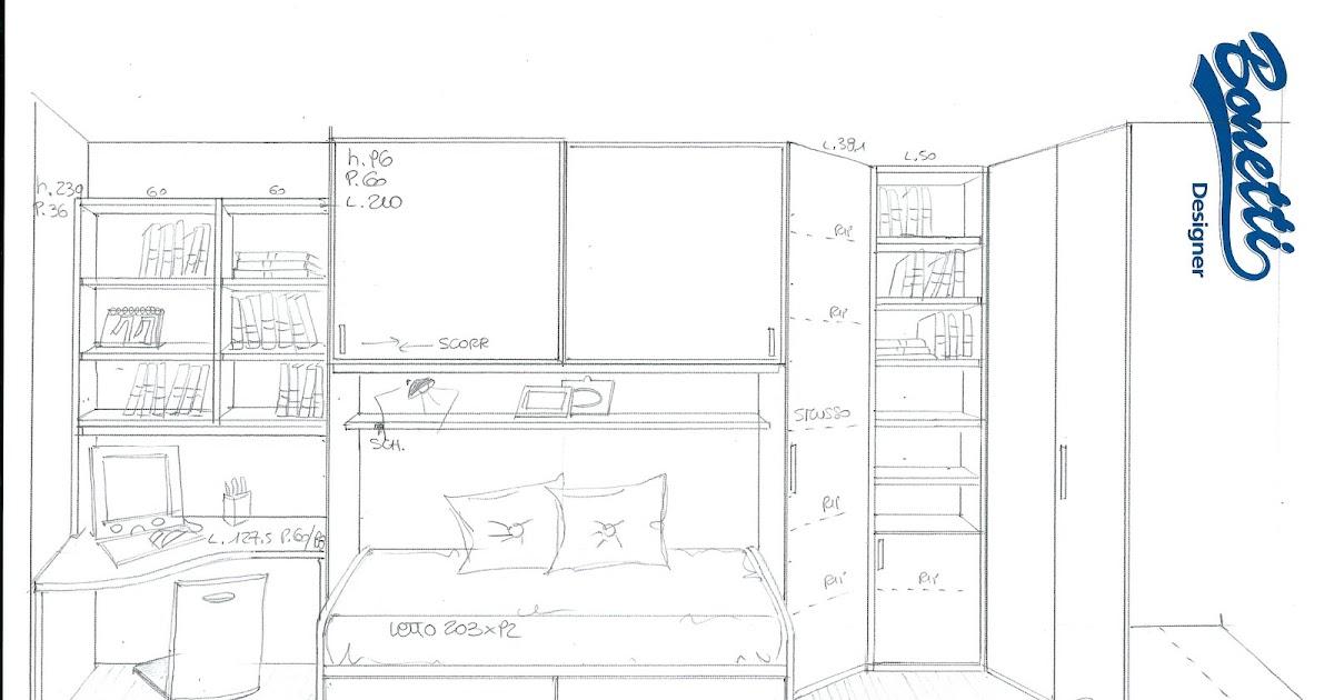 Bonetti camerette bonetti bedrooms progettazione cameretta for Progettare la cameretta