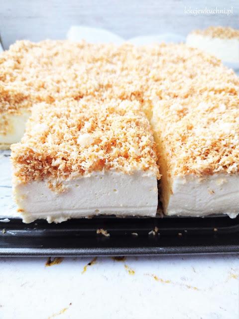 Ciasto Śnieżny Puch bez pieczenia przepis