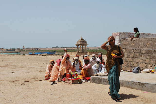 Sadhus at Rukmini Temple