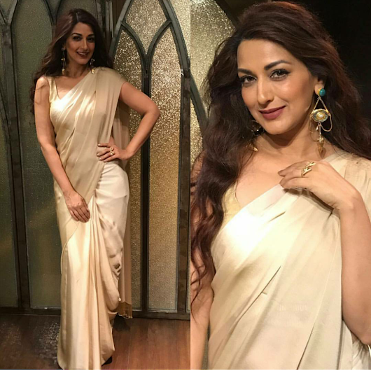 Rampdiary - Indian Fashion| Beauty and Lifestyle Blog| Beauty Blog: Sonali Bendre In Manish Malhotra