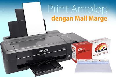 langkah langkah Cara Print Amplop dengan Mail Marge Secara Massal