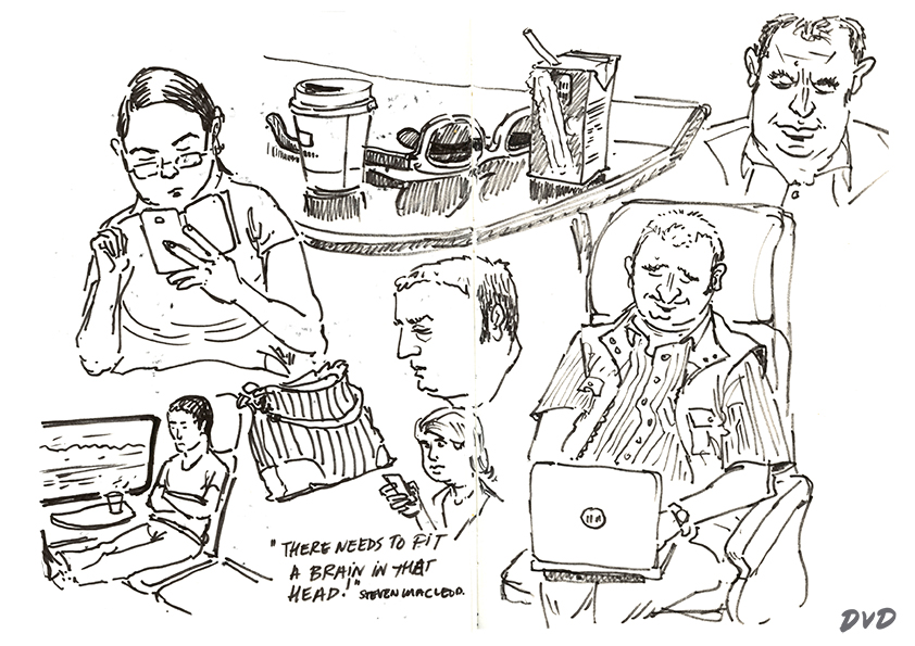 Dirk van Dulmen: Drawings from life and Gags