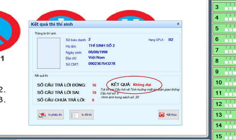 phần mềm thi sát hạch lái xe 600 câu GPLX_4