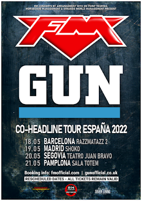 FM + Gun co-headline tour Spain May 2022 - poster