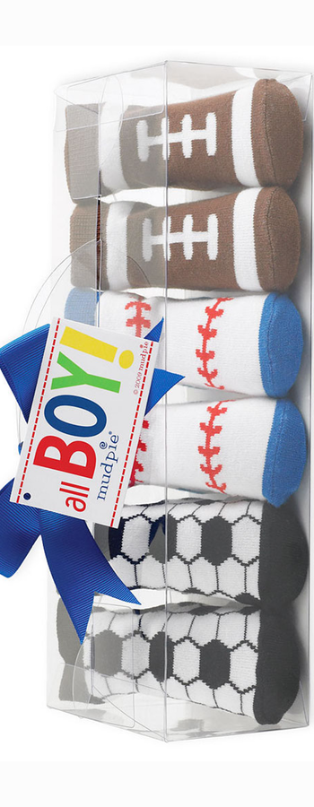 Mud Pie Socks Set (3-Pack) (Baby Boys)
