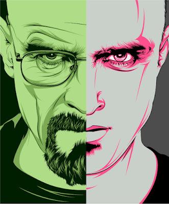 Walter White/Jesse Pinkman from Breaking Bad tomado de: http://craniodsgn.deviantart.com/art/Breaking-Bad-312313101