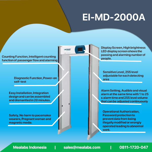 EI-MD2000A Walktrough Metal Detector