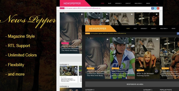 NewsPepper is a professional Blogger template, crafted for news, portal, and magazine websites/blog