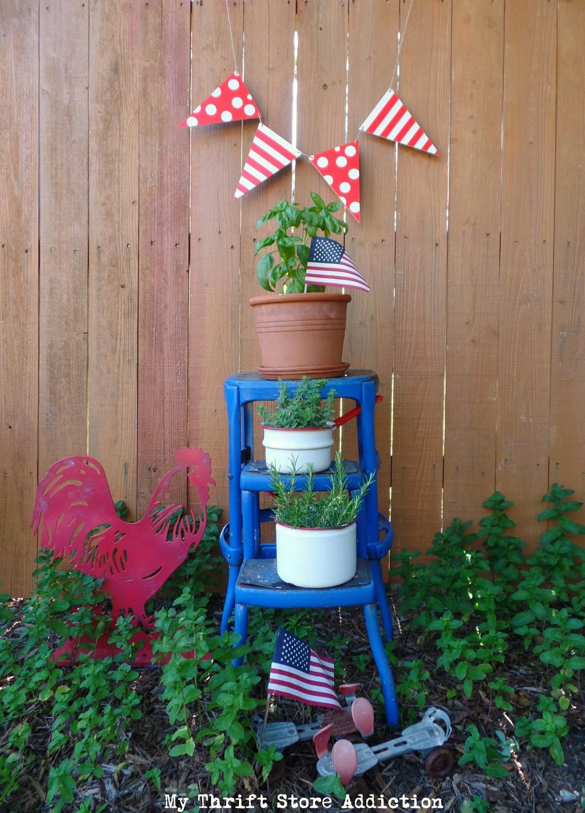 repurposed patriotic garden projects