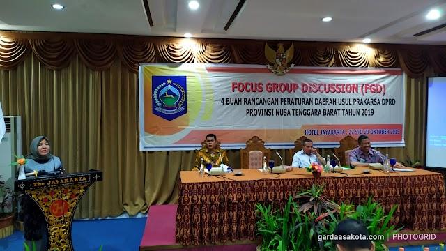 DPRD NTB Gelar FGD Empat Ranperda Usul Prakarsa