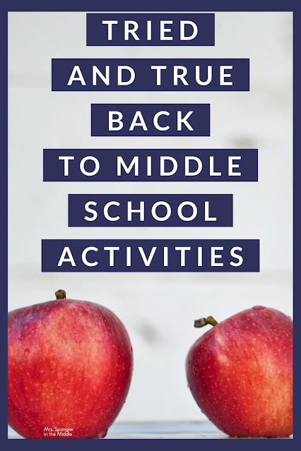 Before delving into your content, take a look at these FIVE days of tried and true activities for back to middle school!