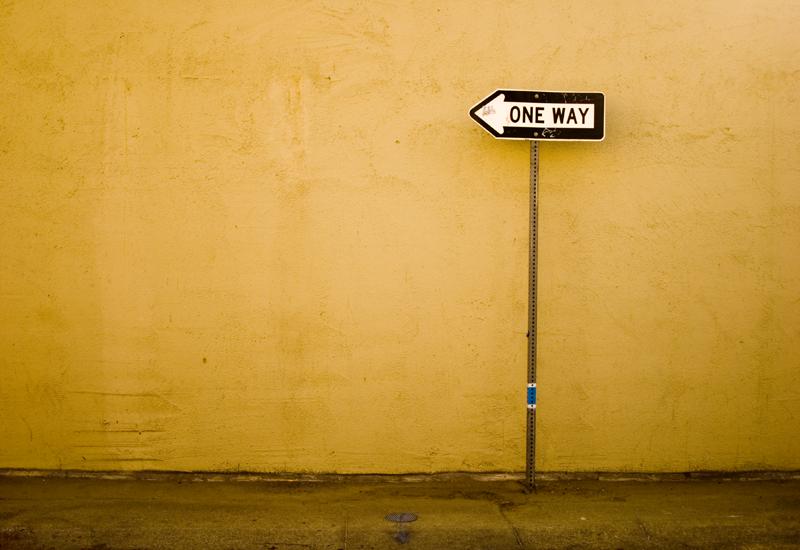sbagliare direzione