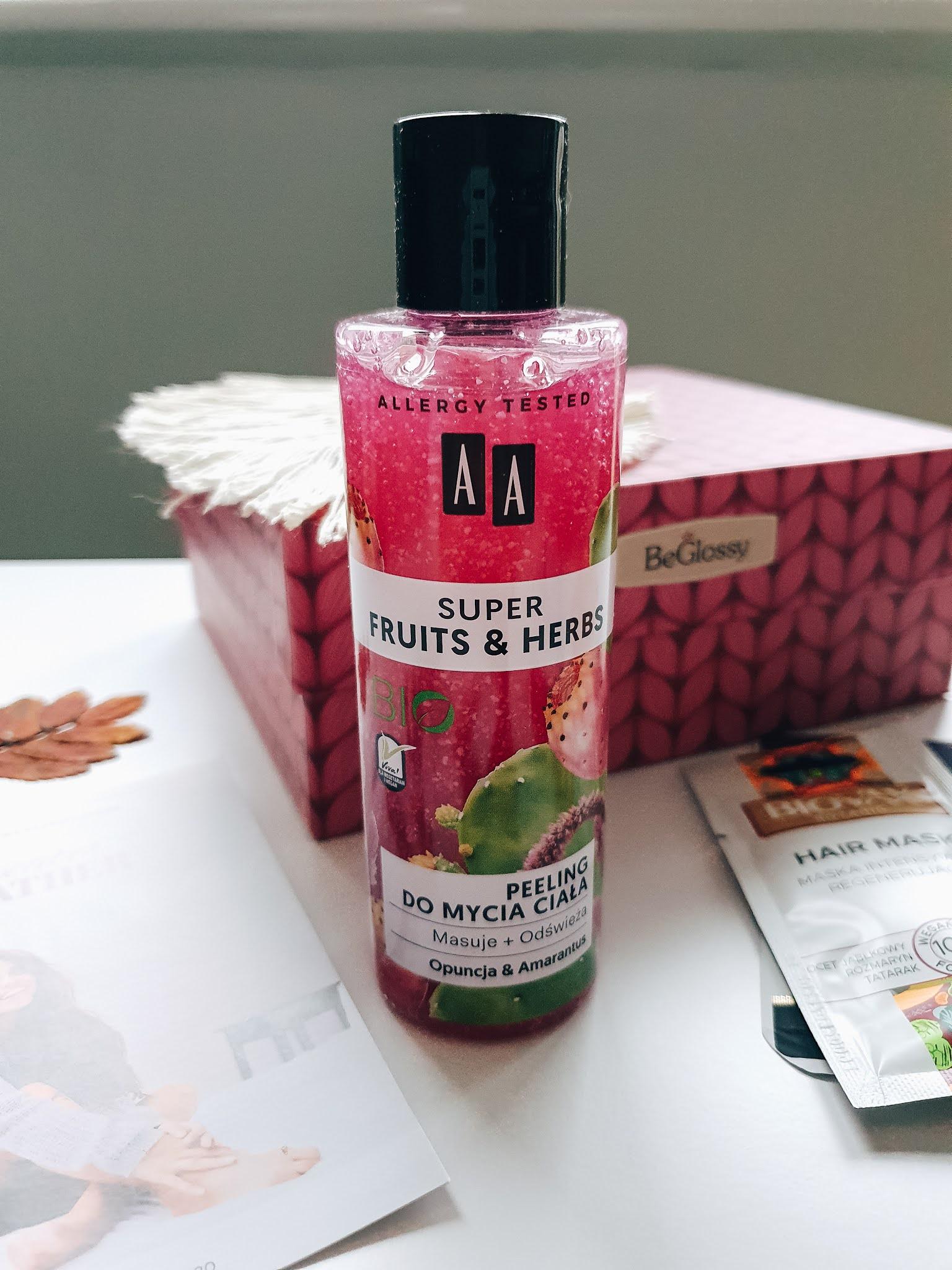 AA Super Fruits & Herbs - peeling do ciała opuncja i amarantus