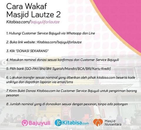 Cara Wakaf Masjid Lautze 2 Bersama Bajuyuliforlautze dan Kitabisa.com