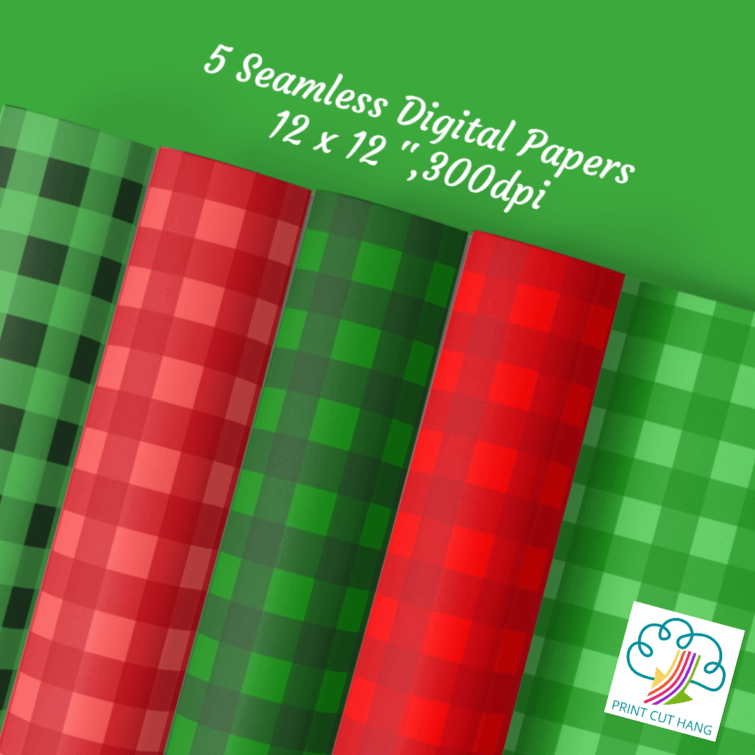 Christmas Gingham Papers