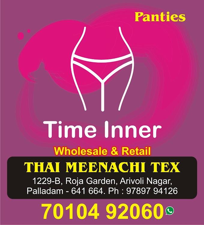TIME INNER, THAI MEENACHI TEX TIRUPUR SOCIAL MEDIA ADS DESIGN