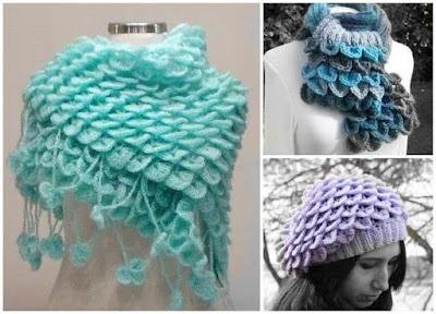 Punto cocodrilo o escama crochet tutorial