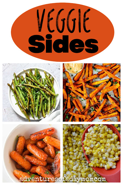 collage of vegetable side dishes