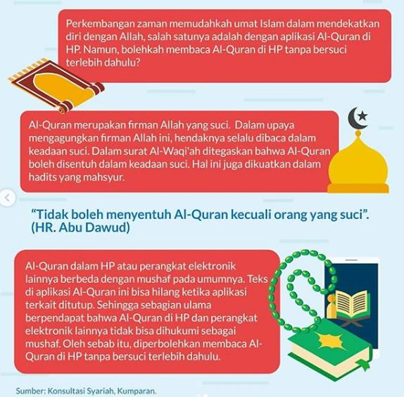 Boleh Membaca Al-Quran di HP tanpa Bersuci