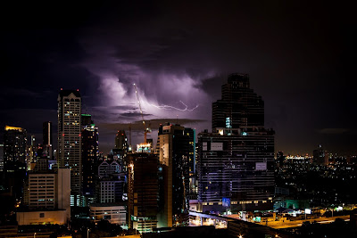 Storm over city - by Nikolas Behrendt on Unsplash