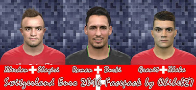PES 2016 Switzerland Euro 2016 Facepack by Chiheb27