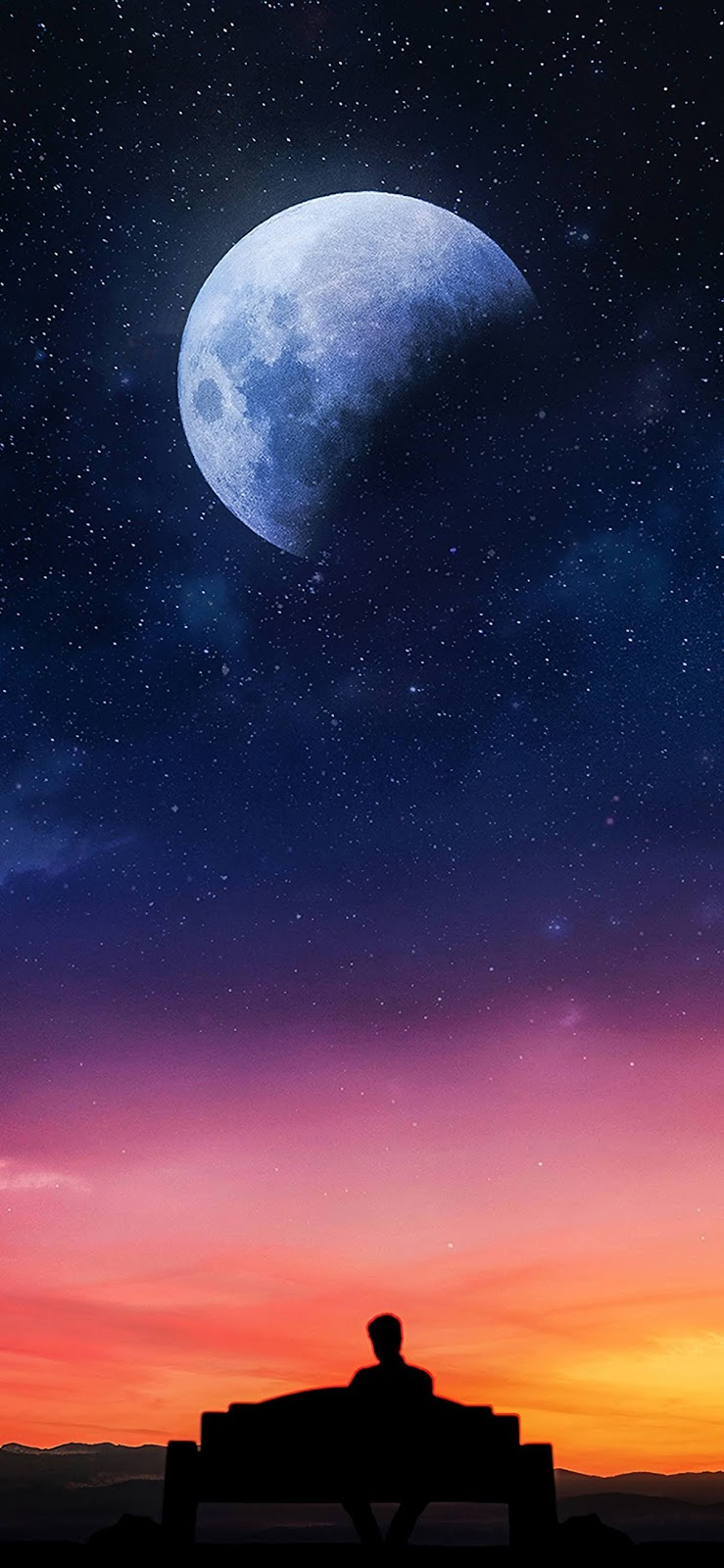 Watching the starry sky iphone xs max wallpaper