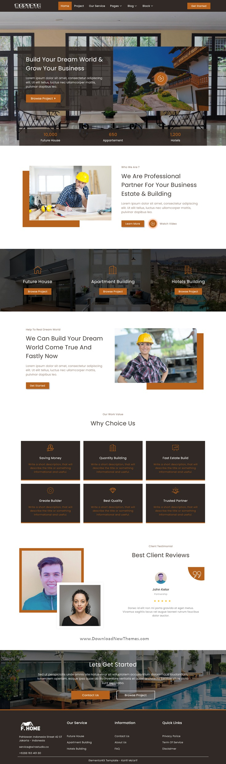Construction Builder Elementor Template Kit
