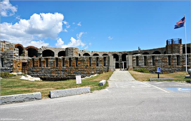 Fort Popham en Phippsburg, Maine