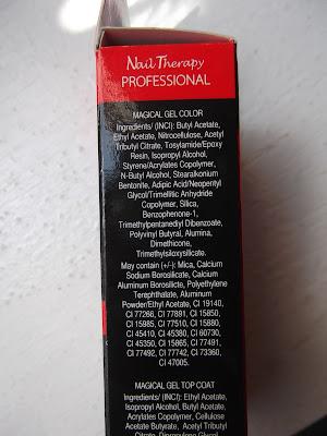 Eveline Cosmetics Nail Therapy Professional gélový lak na nechty bez použitia UV/LED lampy zloženie