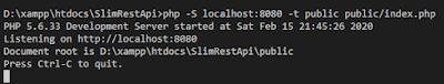 RESTFul Api Slim Framework dengan Api key