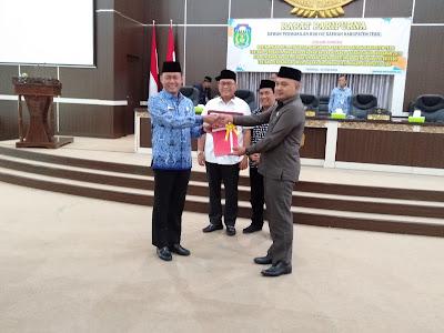 Ketua DPRD Tebo Pimpin Paripurna Ranperda APBD-P 2019 & Ranperda PDAM Tebo