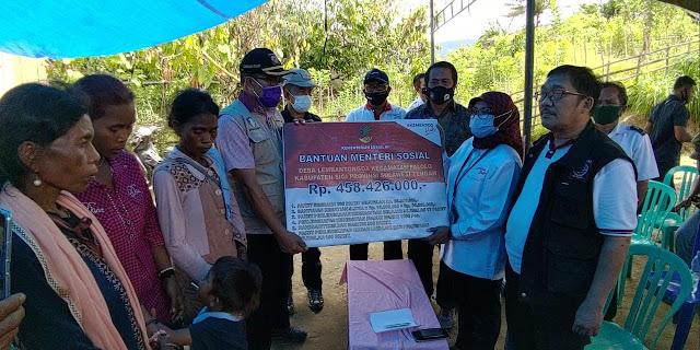 Kemensos Salurkan Bantuan Kepada Warga Korban Tragedi Lembantongoa