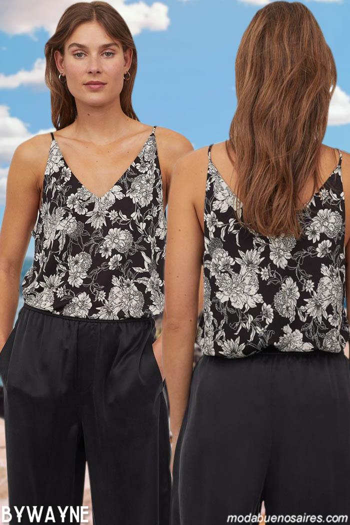 blusas con tiritas moda verano 2021 moda