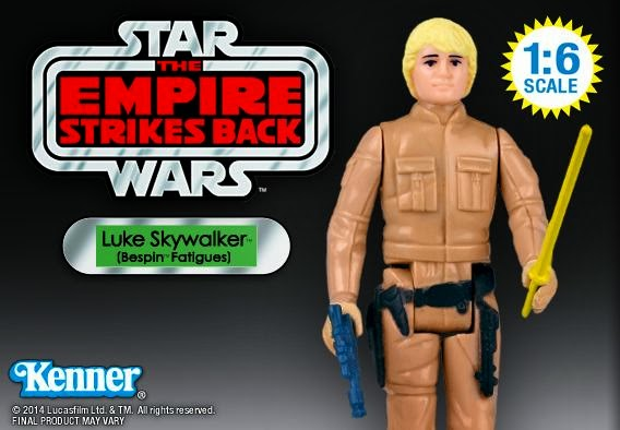 "Luke Skywalker in Bespin Fatigues 12"" Jumbo Vintage Kenner Star Wars Action Figure by Gentle Giant"