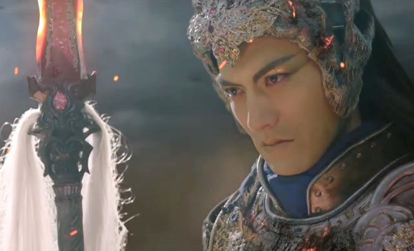 Yan Yikuan as Qing Cang/Demon Emperor in ONCE UPON A TIME (2017)