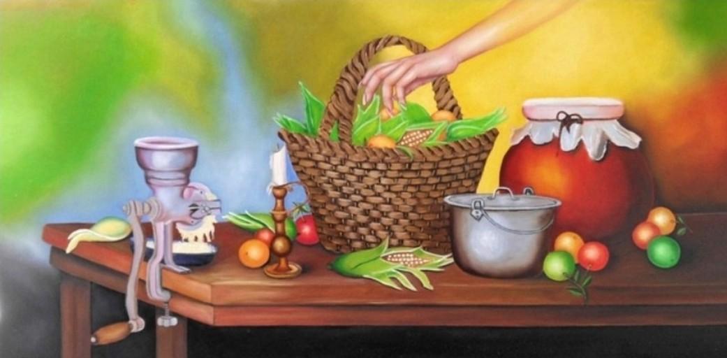 Cuadros modernos pinturas y dibujos bodegones frutas en - Pinturas de madera ...
