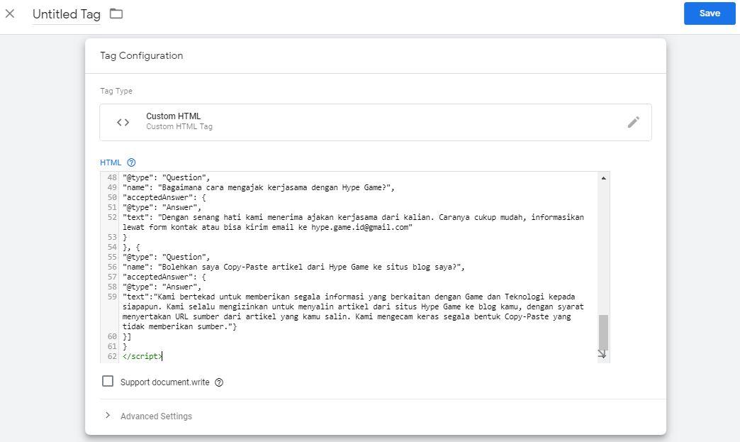 Cara Memasang Schema Markup FAQ Dengan Google Tag Manager 11