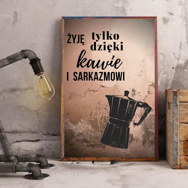 plakaty do kuchni z kawą plus przeliczniki kuchenne do wydruku za darmo
